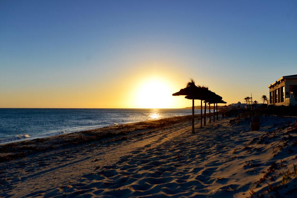 wschód słońca w tunezji