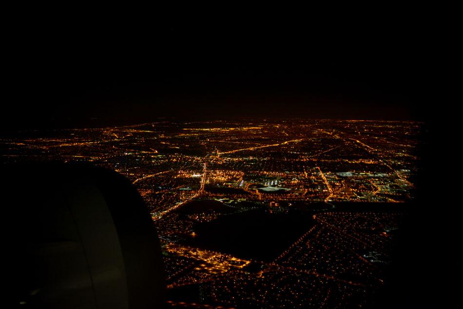 widok z samolotu nowy jork