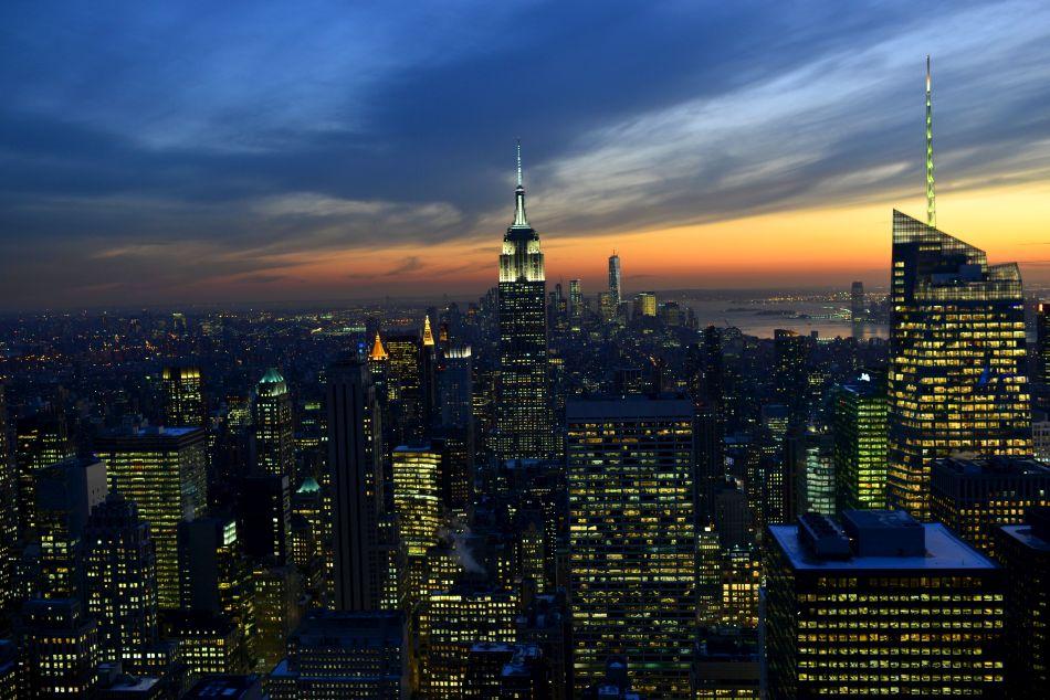 empire state building zachód słońca