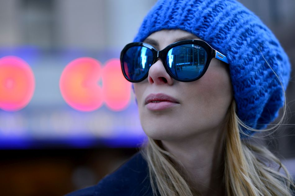 lustrzane okulary vogue