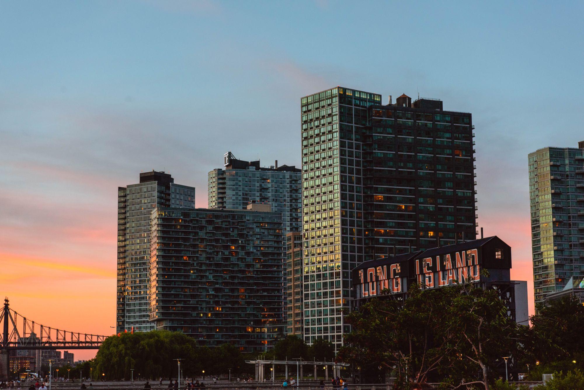 widok na long island city