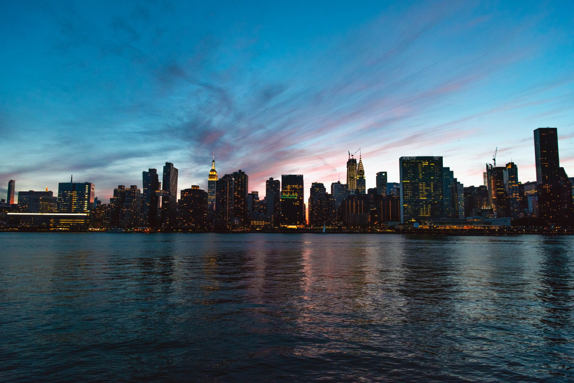 Panorama nowego jorku z long island city